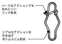 フック形状スナップ