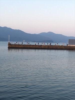 船越漁港の様子